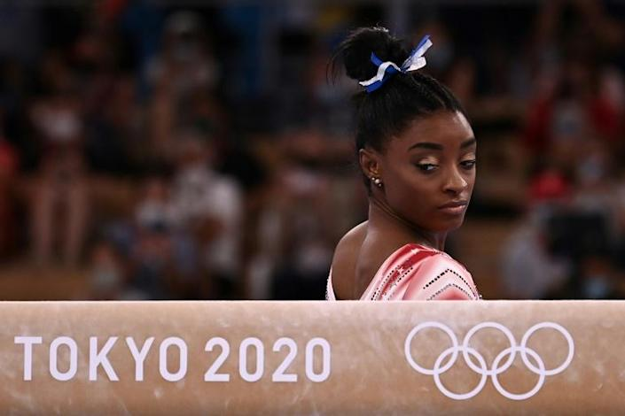 Simone Biles competed in the beam despite suffering from a disorientating mental block