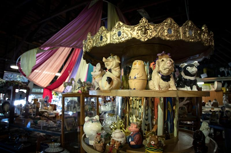 The Merry-Go-Round antique store in Newcastle, Calif., sells odds and ends to passersby.