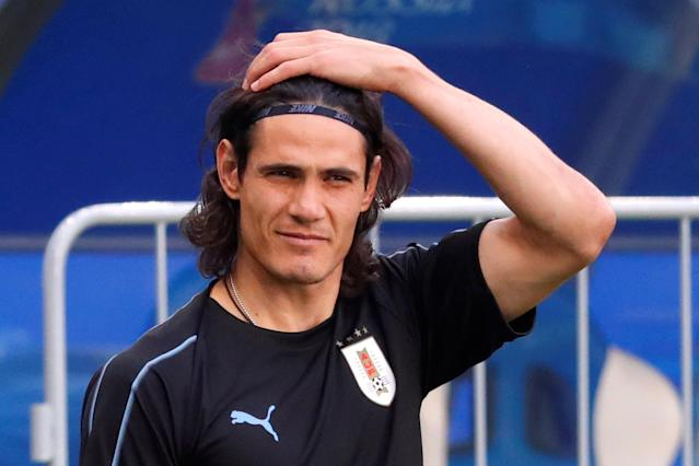 Soccer Football - World Cup - Uruguay Training - Samara Arena, Samara, Russia - June 24, 2018 Uruguay's Edinson Cavani during training REUTERS/David Gray
