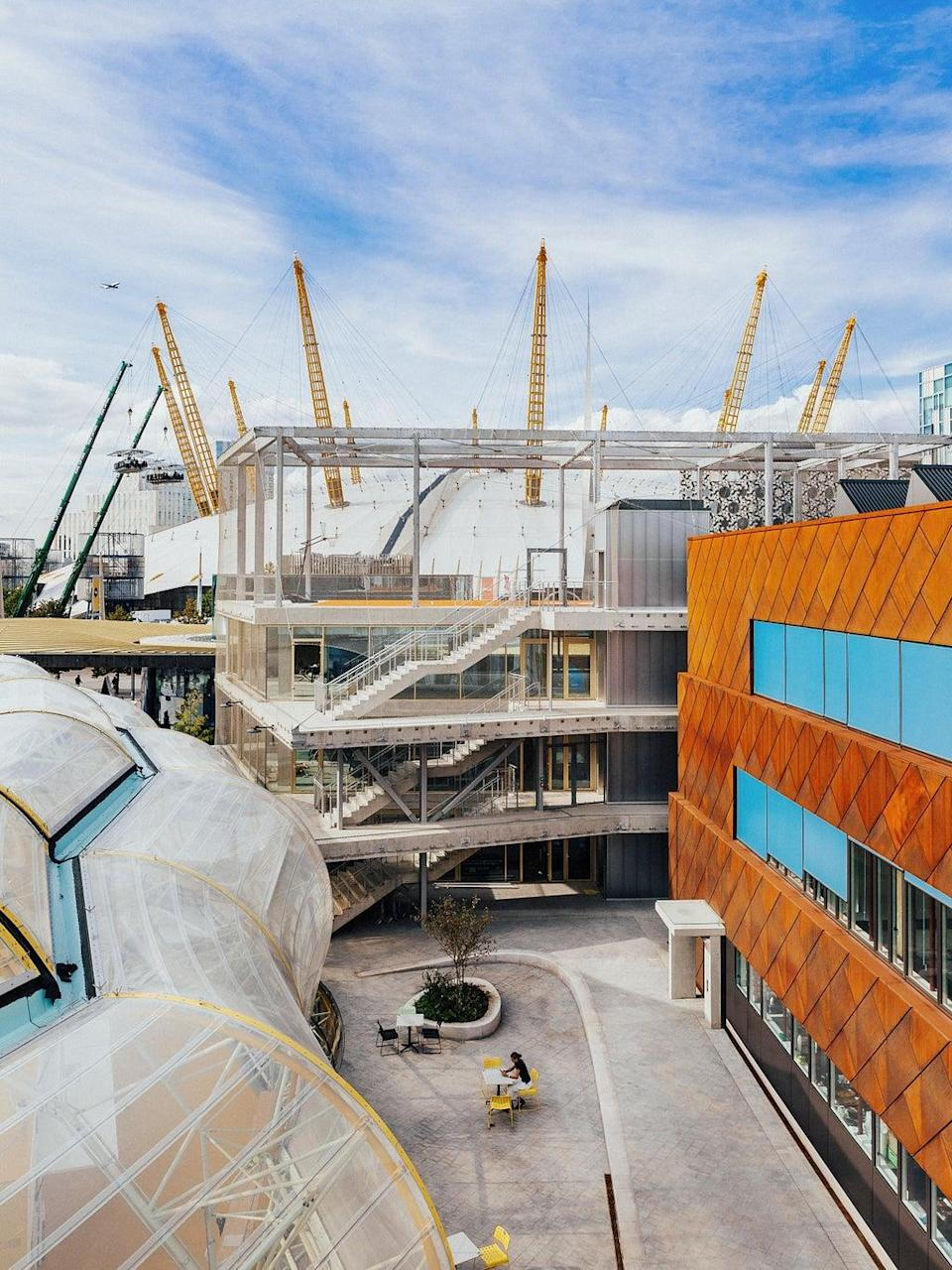 Imaginative buildings bring whimsy to the new Design District on Greenwich Peninsula (Taran Wilkhu)