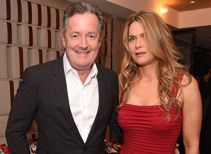 Piers Morgan and his wife Celia Walden. (Getty Images)