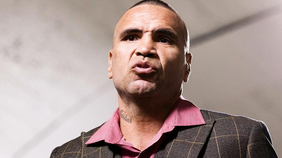 Anthony Mundine has criticised the surprise change to Australia's national anthem, arguing it doesn't do enough to properly reflect Indigenous history. (Photo by Dave Hewison/Speed Media/Icon Sportswire via Getty Images)