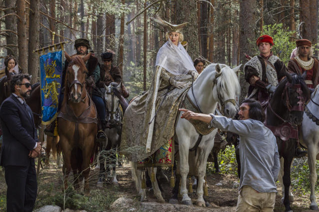 Olga Kurylenko and Adam Driver in The Man Who Killed Don Quixote. (Sparky Pictures)