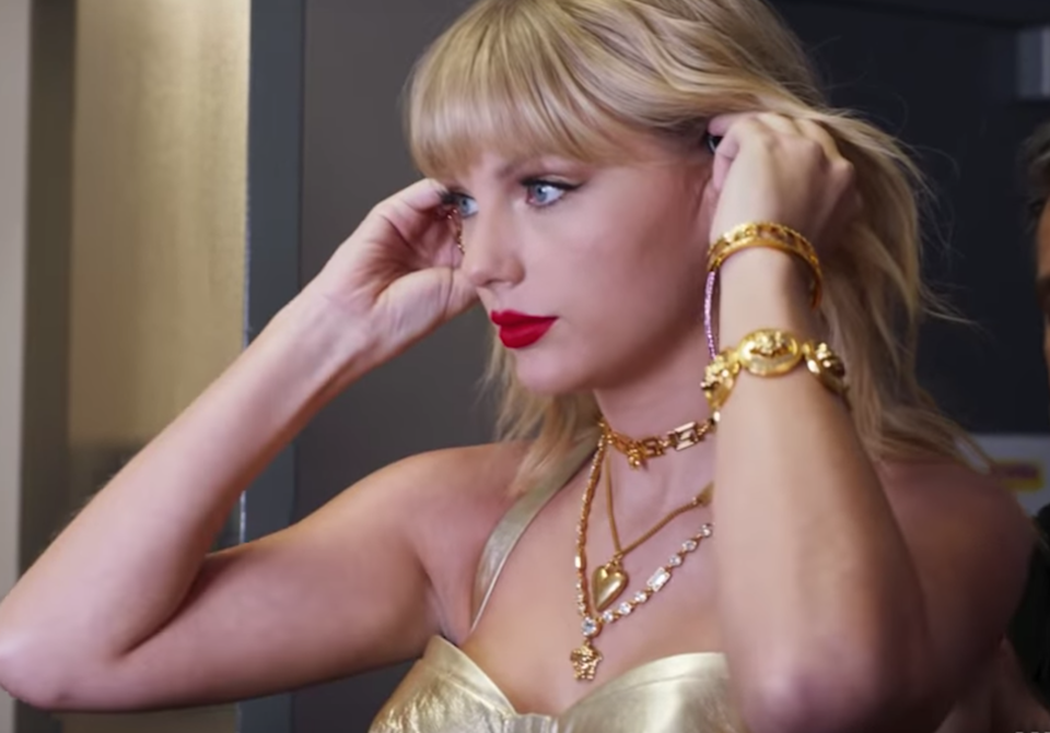 """<p>Frankly, your feelings about Taylor Swift—whether you're a superfan or find her completely intolerable—are irrelevant when it comes to this documentary. Swift's vulnerable confessions about body-image issues, impostor syndrome, and her at-times debilitating need to be liked in <a href=""""https://www.glamour.com/story/taylor-swift-miss-americana-review?mbid=synd_yahoo_rss"""" rel=""""nofollow noopener"""" target=""""_blank"""" data-ylk=""""slk:Miss Americana"""" class=""""link rapid-noclick-resp""""><em>Miss Americana</em></a> are beyond relatable. The amount of times you'll tear up and whisper """"same"""" will probably surprise you. Brace yourself for some heavy moments, like when Swift discusses her sexual assault trial and fight with <a href=""""https://www.glamour.com/story/taylor-swift-says-she-used-to-battle-an-eating-disorder?mbid=synd_yahoo_rss"""" rel=""""nofollow noopener"""" target=""""_blank"""" data-ylk=""""slk:disordered eating"""" class=""""link rapid-noclick-resp"""">disordered eating</a>. But if you're hoping for <a href=""""https://www.glamour.com/story/taylor-swift-and-joe-alwyns-relationship-a-complete-timeline?mbid=synd_yahoo_rss"""" rel=""""nofollow noopener"""" target=""""_blank"""" data-ylk=""""slk:Joe Alwyn"""" class=""""link rapid-noclick-resp"""">Joe Alwyn</a> cameos or a certain <a href=""""https://www.glamour.com/story/miss-americana-director-taylor-swift?mbid=synd_yahoo_rss"""" rel=""""nofollow noopener"""" target=""""_blank"""" data-ylk=""""slk:rumored engagement ring"""" class=""""link rapid-noclick-resp"""">rumored engagement ring</a>, you're out of luck.</p> <p><a href=""""https://www.netflix.com/title/81028336"""" rel=""""nofollow noopener"""" target=""""_blank"""" data-ylk=""""slk:Watch now on Netflix."""" class=""""link rapid-noclick-resp""""><em>Watch now on Netflix.</em></a> </p>"""