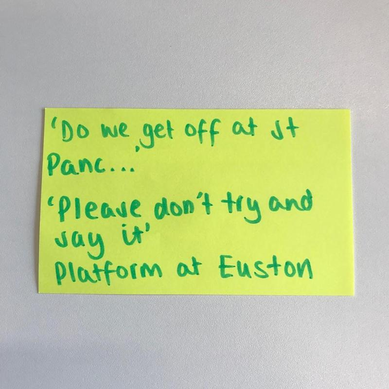 (TfL Overheard on the Tube)