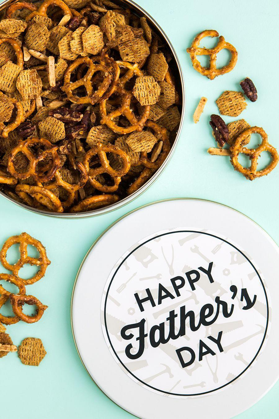 """<p>Make both the snack tin and the tasty mix that goes inside with just a few easy steps.</p><p><strong>Get the tutorial at <a href=""""https://sarahhearts.com/snack-mix/"""" rel=""""nofollow noopener"""" target=""""_blank"""" data-ylk=""""slk:Sarah Hearts"""" class=""""link rapid-noclick-resp"""">Sarah Hearts</a>.</strong></p>"""