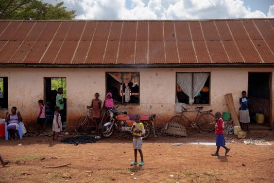 Nyambare Secondary School, where displaced people are living (Ed Ram)