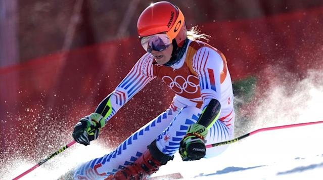 """<p>American <a href=""""https://www.si.com/olympics/2018/02/10/mikaela-shiffrin-reluctant-star-winter-olympics-2018-pyeongchang-michael-phelps"""" rel=""""nofollow noopener"""" target=""""_blank"""" data-ylk=""""slk:Mikaela Shiffrin"""" class=""""link rapid-noclick-resp"""">Mikaela Shiffrin</a> captured the gold medal in the women's giant slalom at the PyeongChang 2018 Winter Olympics.</p><p>Shiffrin was in second place after the first run in the final, sandwiched between Italians Manuela Moelgg (first) and Federica Brignone (third). Shiffrin's time of 1:10.82 in the first run was 0.2 seconds slower than Moelgg and 0.09 seconds faster than Brignone.</p><p>In the second run, Shiffrin posted a tome of 1:09.20, giving her a total time 2:20.02, which vaulted her into first place. Moelgg fell to eighth after a 1:10.58 second run gave her a total time of 2:21.20, while Norway's Ragnhild Mowinckel climbed into second and Brigone held onto third place.</p><p>This is Shiffrin's second career Olympic gold medal. In 2014 she captured the gold in women's slalom. She will defend that medal Thursday night.</p><p>• <strong><a href=""""https://www.si.com/olympics/2018/01/29/mikaela-shiffrin-winter-olympics-2018-pyeongchang"""" rel=""""nofollow noopener"""" target=""""_blank"""" data-ylk=""""slk:Guts Over Fear: An Aggressive State of Mind Helped Mikaela Shiffrin Conquer Her Anxiety On The Slopes"""" class=""""link rapid-noclick-resp"""">Guts Over Fear: An Aggressive State of Mind Helped Mikaela Shiffrin Conquer Her Anxiety On The Slopes</a></strong></p><p>This medal brings the <a href=""""https://www.si.com/olympics/2018/team-usa-medal-tracker-pyeongchang-olympic-games-results-medals-won"""" rel=""""nofollow noopener"""" target=""""_blank"""" data-ylk=""""slk:Team USA's total medal"""" class=""""link rapid-noclick-resp"""">Team USA's total medal</a> count to eight and the gold medal count to five. You can check out a full medal count for the 2018 Winter Olympics <a href=""""https://www.si.com/olympics/medals/country"""" rel=""""nofollow noopener"""" target=""""_blank"""" data-ylk=""""slk:her"""
