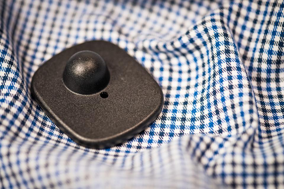 security tag left on shirt