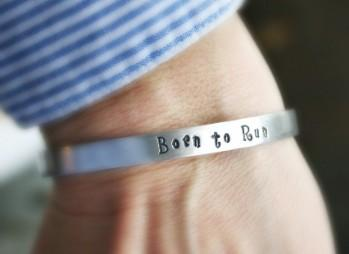 Aluminum Born to Run Cuff. (Photo: Etsy)