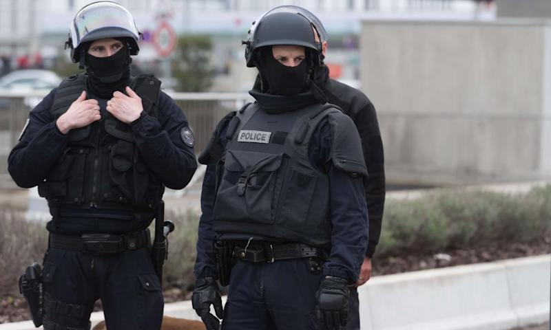 French police at Orly aiport