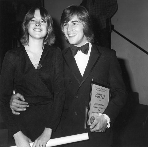 """<p>Melanie Griffith met Don Johnson when <a href=""""https://www.instyle.com/news/tbt-melanie-griffith-don-johnson"""" rel=""""nofollow noopener"""" target=""""_blank"""" data-ylk=""""slk:she was only 14 years old"""" class=""""link rapid-noclick-resp"""">she was only 14 years old</a>, but it wasn't until she turned 18 that Don proposed. """"Melanie called at about 4 or 5 in the morning. We professed undying love and flew to Las Vegas and got married,"""" Don told <em><a href=""""https://people.com/archive/cover-story-a-baby-for-don-and-melanie-vol-31-no-8/"""" rel=""""nofollow noopener"""" target=""""_blank"""" data-ylk=""""slk:PEOPLE"""" class=""""link rapid-noclick-resp"""">PEOPLE</a></em>. They divorced that same year, but remarried in 1989 and were together until 1996. </p>"""