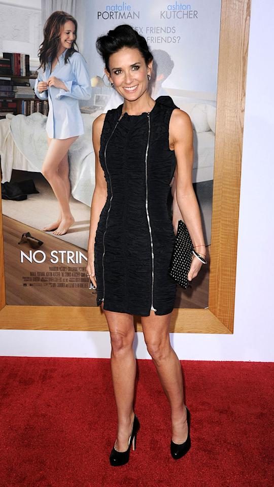 """<a href=""""http://movies.yahoo.com/movie/contributor/1800012196"""">Demi Moore</a> attends the Los Angeles premiere of <a href=""""http://movies.yahoo.com/movie/1810159162/info"""">No Strings Attached</a> on January 11, 2011."""
