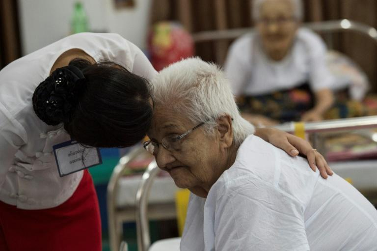 """Many residents of Myanmar's """"Twilight Villa"""" nursing home arrive bewildered and sick after being abandoned by their families, says vice chairwoman Khin Ma Ma"""