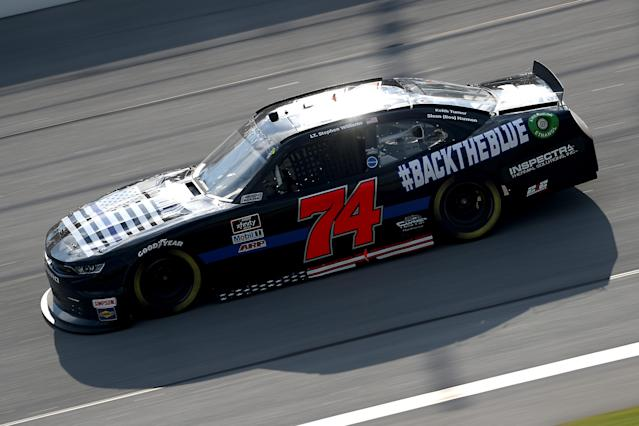 The crew chief for this car was arrested on June 8. (Photo by Chris Graythen/Getty Images)