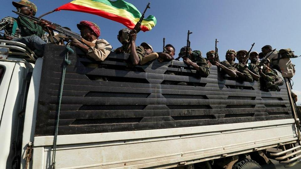 soldiers in Tigray