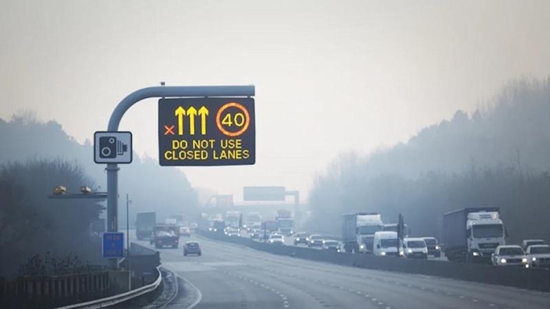 Motorway red 'X' signs now being enforced by cameras