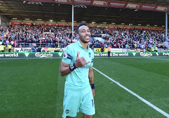 Pierre-Emerick Aubameyang finished the season with 22 Premier League goals. (Credit: Getty Images)