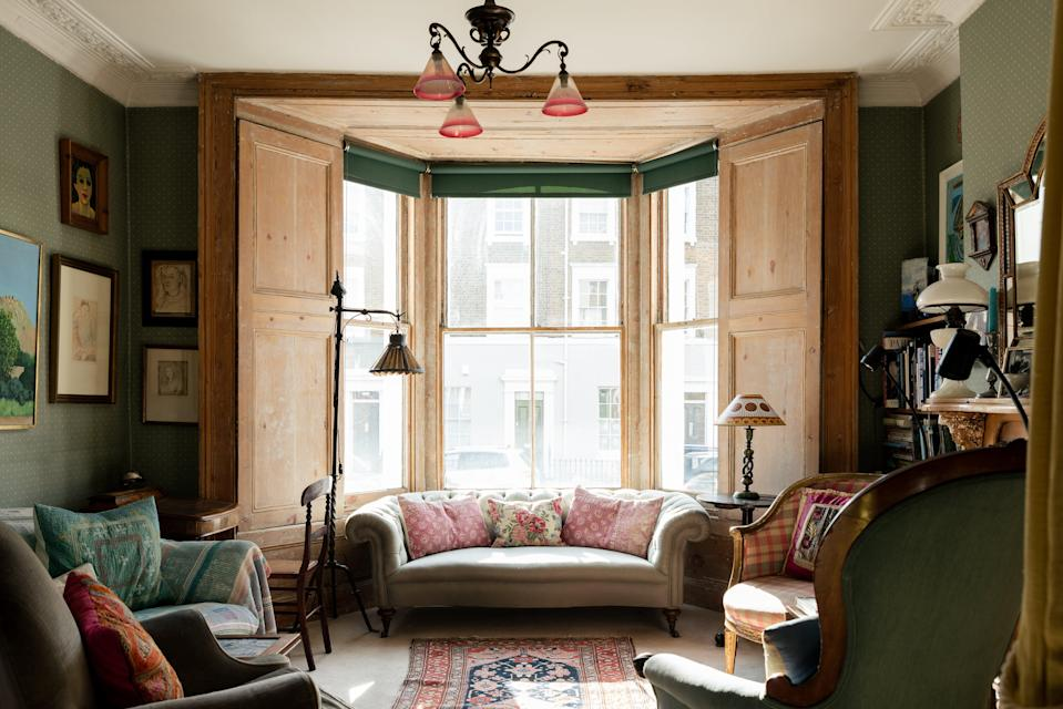 Antique chic: Ninka Scott inherited some pieces of furniture but says the