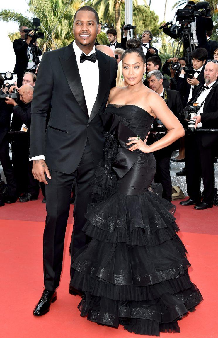 Carmelo and La La Anthony at the 2016 Cannes Film Festival.