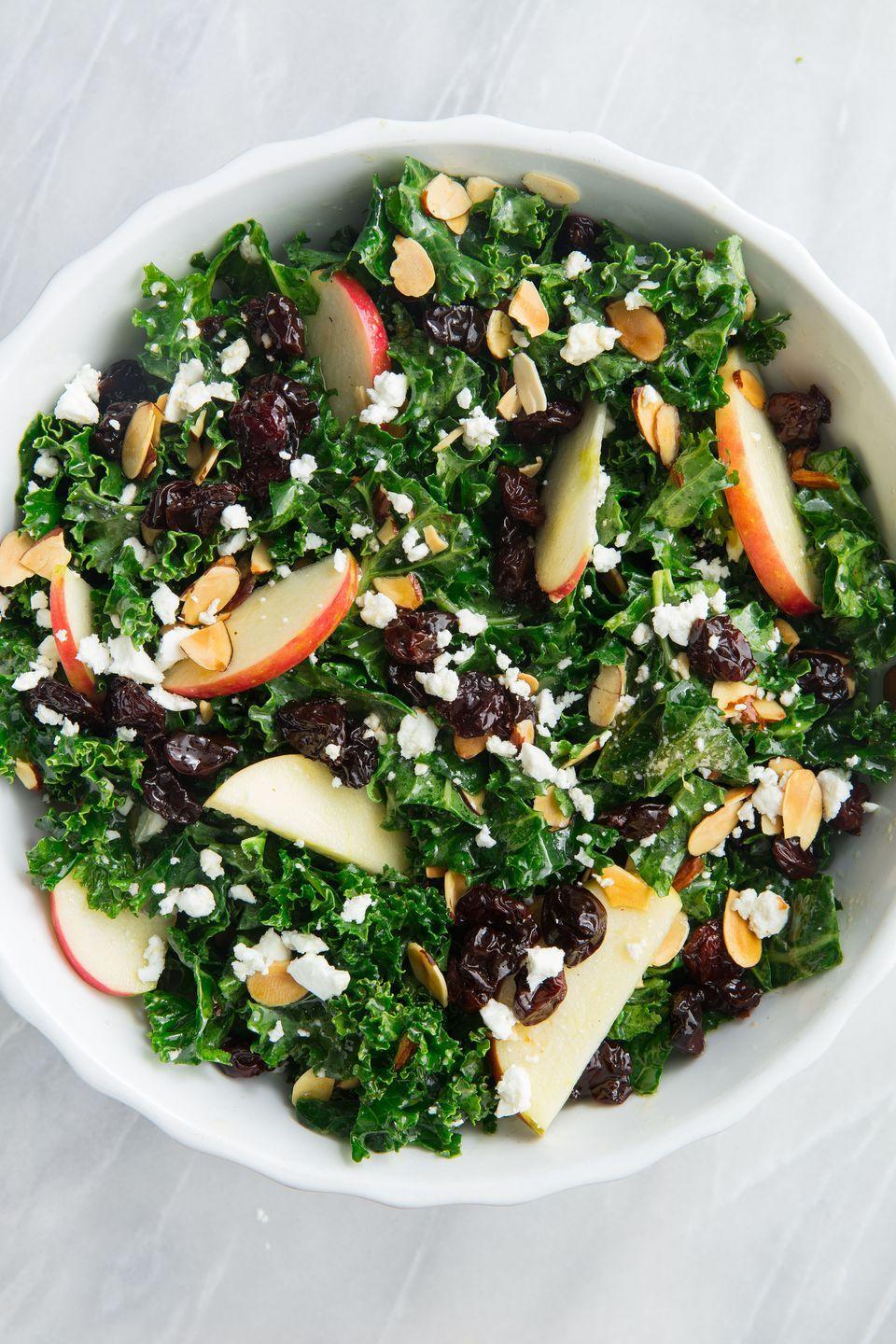 """<p>Need something else to do with your apple haul?</p><p>Get the recipe from <a href=""""https://www.delish.com/cooking/recipe-ideas/a20088309/best-kale-salad-recipe/"""" rel=""""nofollow noopener"""" target=""""_blank"""" data-ylk=""""slk:Delish"""" class=""""link rapid-noclick-resp"""">Delish</a>.</p>"""