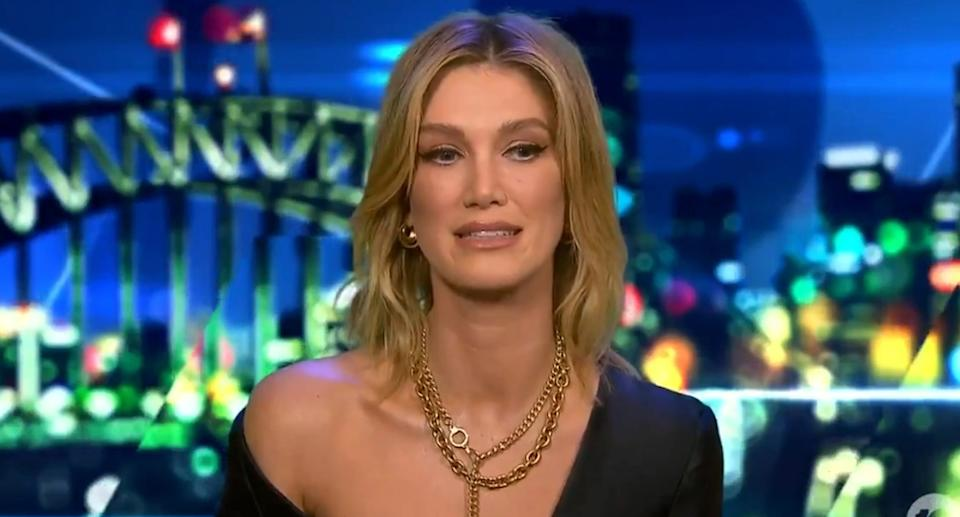 Delta Goodrem appears on The Project on Thursday, May 13.
