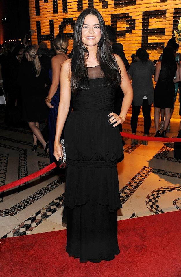"""Former """"Top Chef"""" host Katie Lee Joel came clad in black. Dimitrios Kambouris/<a href=""""http://www.wireimage.com"""" target=""""new"""">WireImage.com</a> - September 22, 2009"""