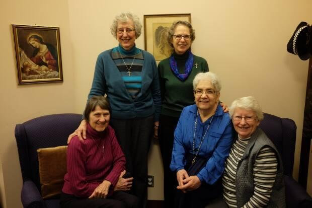 Sisters of St. Ann president Marie Zarowny, second from left, says her group has been striving to support First Nations communities after taking part in the Truth and Reconciliation Commission hearings on Indian residential schools.