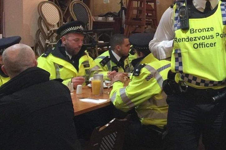 The restaurateur said any Londoner would have done what he did for the emergency services (@ConstableXL/Twitter)