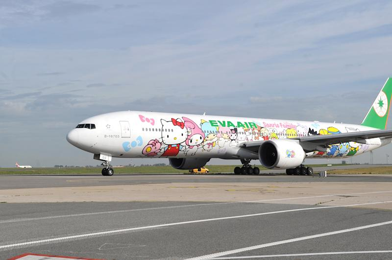 A special Fathers' Day Hello Kitty flight to nowhere was offered by EVA Air
