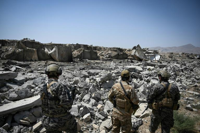 The US destroyed the last CIA base in Afghanistan as its troops pulled out (AFP/Aamir QURESHI)
