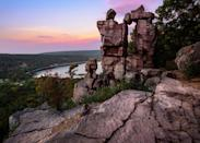 <p><strong>Best camping in Wisconsin:</strong> Quartzite Campground, Devil's Lake State Park</p> <p>As the most popular park in the state, Devil's Lake has a lot of hype to live up to. Luckily, it delivers. Scramble up rocky outcroppings for a stellar view of the water, hike the East Bluff Trail, or rent a standup paddleboard and traverse the lake. The area hosts three large developed campgrounds, and Quartzite offers the best lake access.</p>