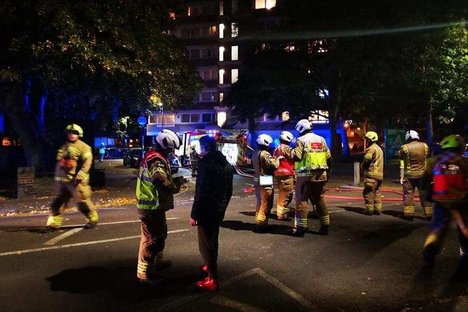 London Fire Brigade confirmed a flat is ablaze on the 20th floor (London Fire Brigade)