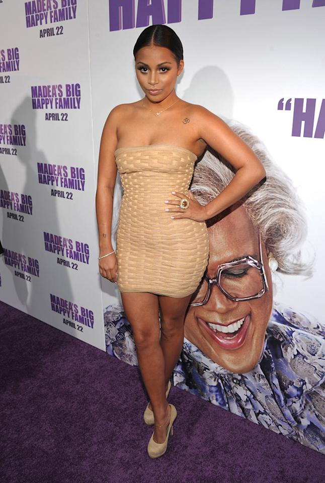 "<a href=""http://movies.yahoo.com/movie/contributor/1808915695"">Lauren London</a> attends the Los Angeles premiere of <a href=""http://movies.yahoo.com/movie/1810171903/info""><a>Tyler Perry's Madea's Big Happy Family</a> on April 19, 2011.</a>"