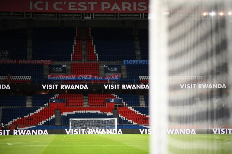 An empty Parc des Princes in Paris -- the French season will go on despite the country heading back into a strict lockdown this week
