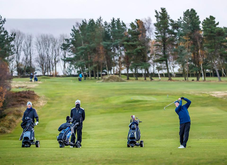 <p>A petition calling for golf's exemption from lockdown will be heard on Monday</p> (PA)