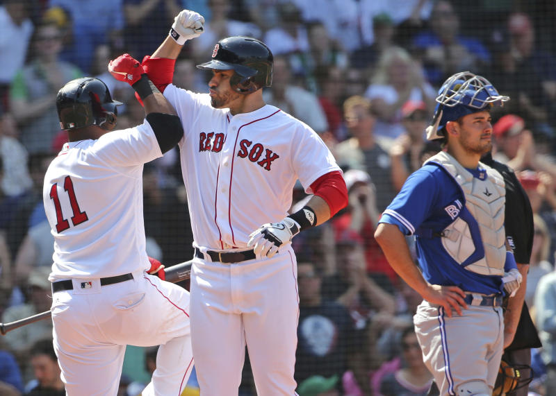 Powered by J.D. Martinez, the Red Sox are back in the No. 1 spot in our MLB Power Rankings. (AP)