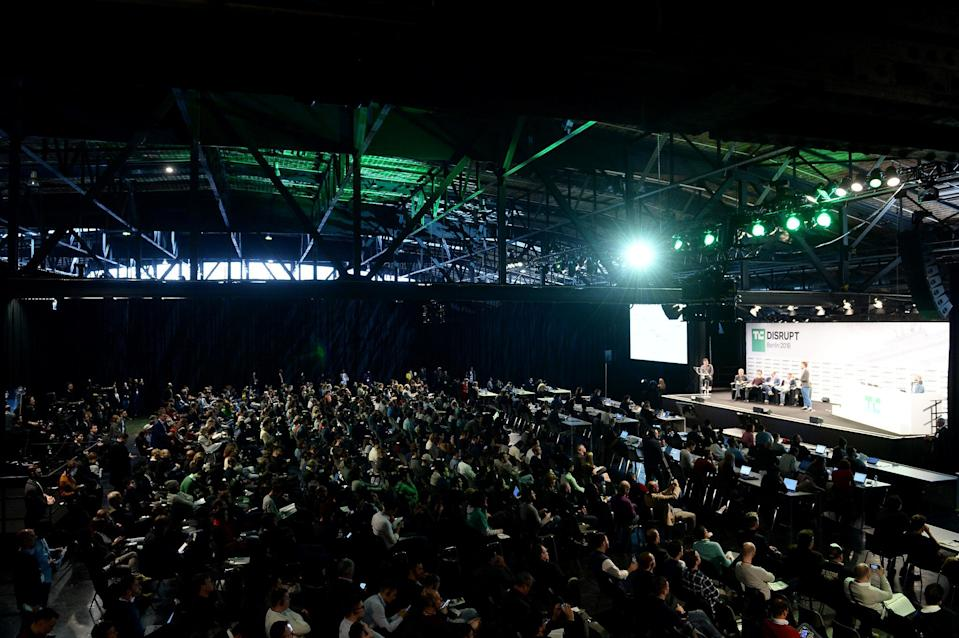 BERLIN, GERMANY - NOVEMBER 29: A general view at TechCrunch Disrupt Berlin 2018 at Treptow Arena on November 29, 2018 in Berlin, Germany. (Photo by Noam Galai/Getty Images for TechCrunch)