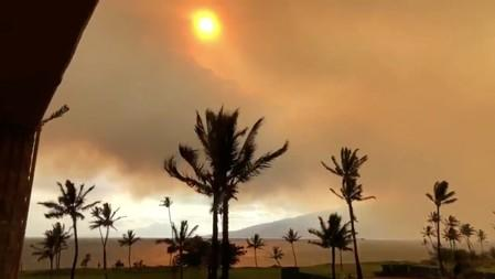 The weather is seen after wildfires in Maui