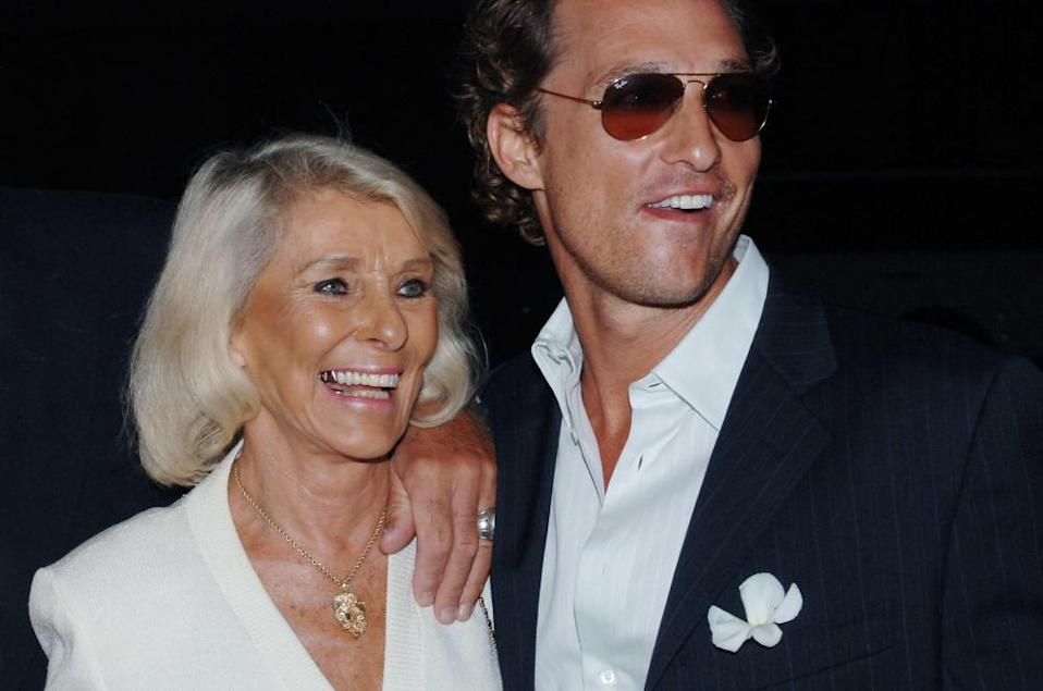 McConaughey with his mother, Kay, at the premiere of Two for the Money in 2005.