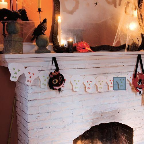 """<p>For a simple and still very Halloween-y craft, this skeleton garland is perfect. </p><p><em><a href=""""https://www.womansday.com/home/decorating/a28912657/skeleton-garland/"""" rel=""""nofollow noopener"""" target=""""_blank"""" data-ylk=""""slk:Get the tutorial for Skeleton Garland."""" class=""""link rapid-noclick-resp"""">Get the tutorial for Skeleton Garland.</a></em> </p>"""