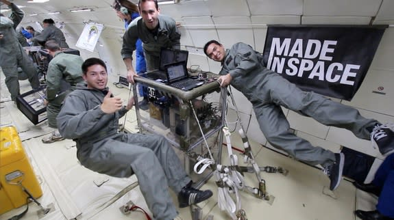 Made in Space's prototype 3D printer, which is bound for the International Space Station in 2014, has passed a series of microgravity flight tests, company officials say. Image released June 19, 2013.