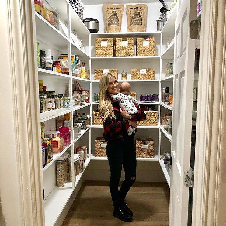 """Though the <em>Flip or</em> Flop star knows more than the average homeowner about design, but she still calls in the pros when it's time to put everything in its proper place. """"I treated myself to an early Christmas present- ORGANIZATION,"""" <a href=""""https://www.instagram.com/p/B50QbcjjmjJ/"""">she wrote on Instagram</a>, crediting <a href=""""https://www.instagram.com/doneanddonehome/"""">Done & Done Home</a> for helping her get things in order <a href=""""https://people.com/parents/christina-anstead-photo-baby-hudson-in-car-seat-going-home-from-hospital/"""">after the birth of son Hudson</a>."""
