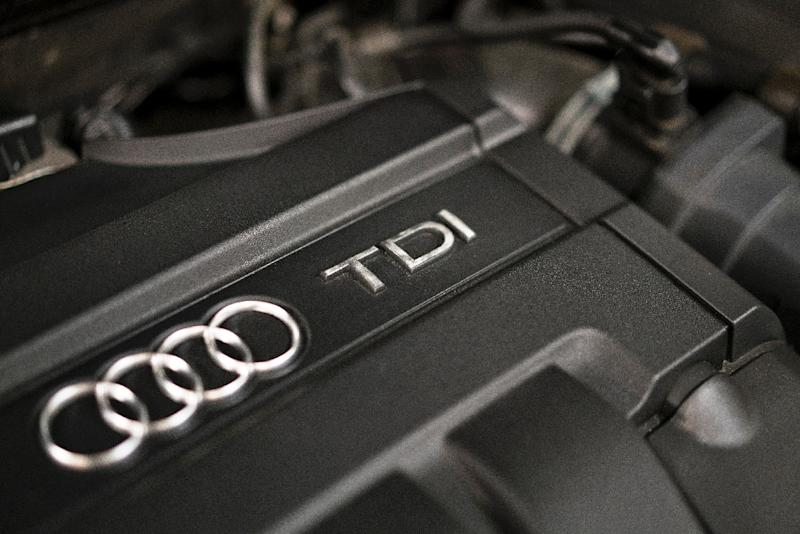 The engine compartment of an Audi A3 TDI, one of several diesel models made by Volkswagen (AFP Photo/Brendan Smialowski)