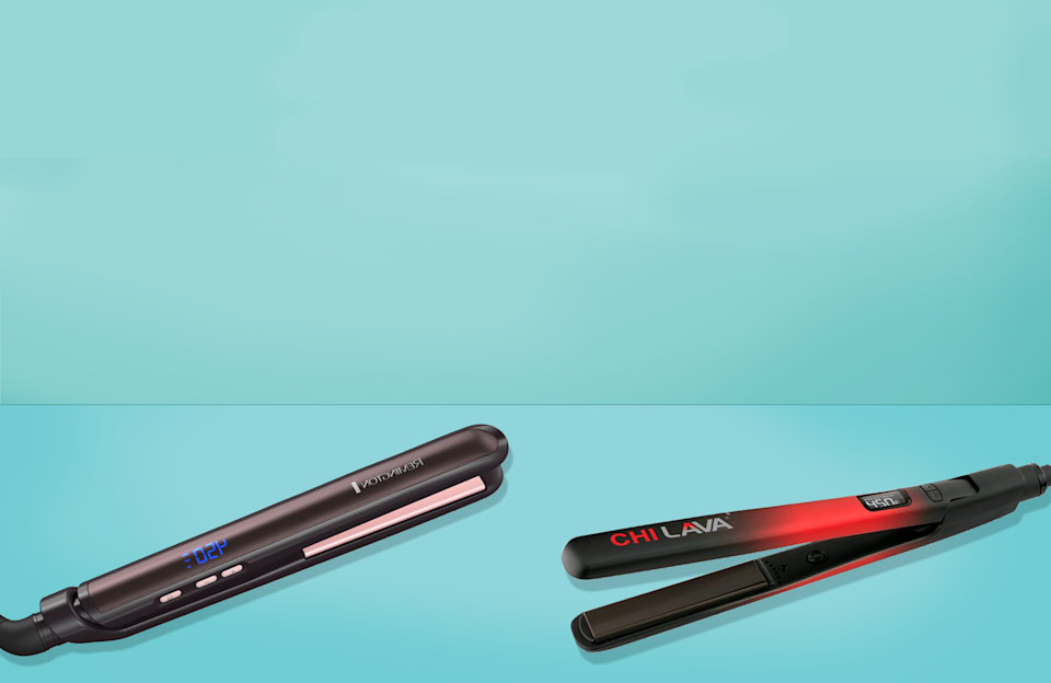 """<p>There is no shortage of <a href=""""https://www.goodhousekeeping.com/beauty/hair/g4903/best-hair-straighteners/"""" rel=""""nofollow noopener"""" target=""""_blank"""" data-ylk=""""slk:flat irons"""" class=""""link rapid-noclick-resp"""">flat irons</a> on the market, and while there are many great options, it's important to find the right one for your hair that will smooth and straighten strands and most importantly, not cause excessive heat <a href=""""https://www.goodhousekeeping.com/beauty/hair/tips/a15884/fix-damaged-hair/"""" rel=""""nofollow noopener"""" target=""""_blank"""" data-ylk=""""slk:damage"""" class=""""link rapid-noclick-resp"""">damage</a>. When it comes to picking the best flat iron for <a href=""""https://www.goodhousekeeping.com/beauty/hair/g3536/natural-hairstyles/"""" rel=""""nofollow noopener"""" target=""""_blank"""" data-ylk=""""slk:natural hair"""" class=""""link rapid-noclick-resp"""">natural hair</a>, the rules are even more specific.</p><p>""""You want to make sure there is a thermostat to adjust heat settings, large plates, and curved casing around the plates, which will allow you to <a href=""""https://www.goodhousekeeping.com/beauty/hair/g33661606/long-curly-hairstyles/"""" rel=""""nofollow noopener"""" target=""""_blank"""" data-ylk=""""slk:make curls"""" class=""""link rapid-noclick-resp"""">make curls</a> and <a href=""""https://www.goodhousekeeping.com/beauty/hair/g3014/how-to-get-beach-waves-hair/"""" rel=""""nofollow noopener"""" target=""""_blank"""" data-ylk=""""slk:waves"""" class=""""link rapid-noclick-resp"""">waves</a>, as well as straighten,"""" says Leigh Hardges, a stylist at <a href=""""https://urldefense.com/v3/__https://maxinesalon.com/__;!!Ivohdkk!yWPAC7_Xv7pEdYO4K-WWgFXNuEGqz46su3i64WknhxC2ODoJvTxnVMVa8k4YCoUl$"""" rel=""""nofollow noopener"""" target=""""_blank"""" data-ylk=""""slk:Maxine Salon"""" class=""""link rapid-noclick-resp"""">Maxine Salon</a> in Chicago. For natural hair, a flat iron with adjustable heat is super important to prevent damage to strands: """"If you have a 4c curl type, never go above 375 or 380º,"""" as this texture is especially damage-prone. </p><h2 class=""""body-h2"""">How we"""