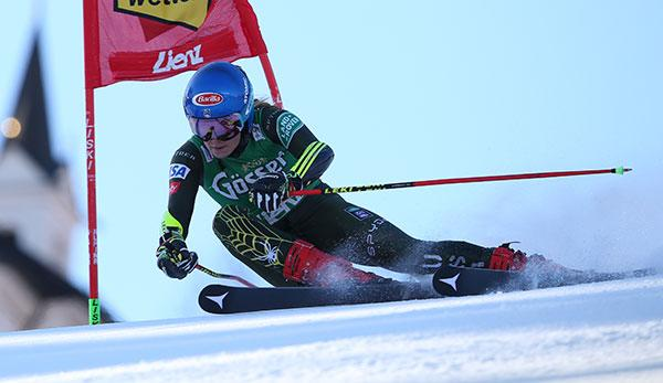 Ski Alpin: Riesenslalom: Shiffrin siegt - ÖSV am Podest