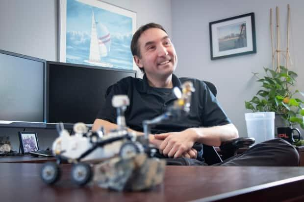 Greg Wanger keeps a model of Perseverance in his Halifax office.  (Robert Short/CBC - image credit)