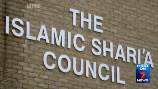 In the UK, Sharia Tribunals are legally binding. Photo: 7 News