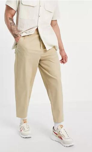 Asos-Design-oversized-tapered-chinos-in-beige