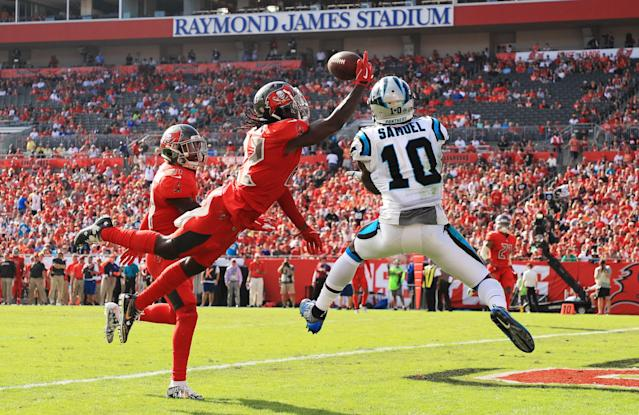 Curtis Samuel drew double-digit targets in Week 13. (Photo by Mike Ehrmann/Getty Images)